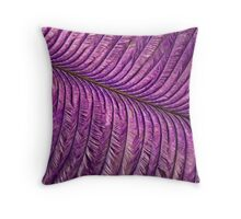 Purple Quill Throw Pillow