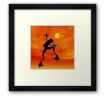 Frog Dancing Framed Print