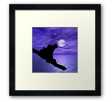 Frog Watching Framed Print