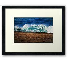 Mutant wave Framed Print