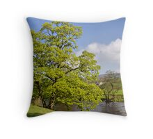 By the River Wharfe Throw Pillow