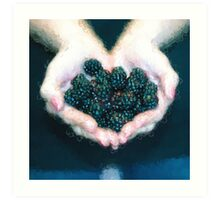 I Love Blackberries [Gary Guthrie] Art Print