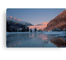 Mendenhall Sunset  Canvas Print