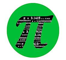 Green and Black Pi Photographic Print