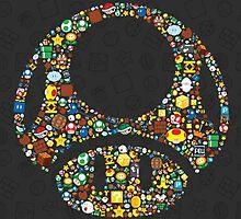 Mario mushroom collage  by GabeRam2000