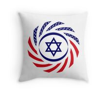 Israeli American Multinational Patriot Flag 1.0 Throw Pillow