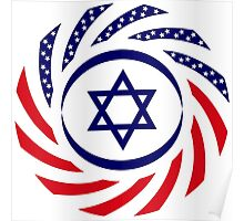Israeli American Multinational Patriot Flag 1.0 Poster