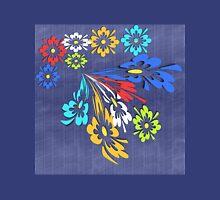 Blue denim floral pattern Unisex T-Shirt