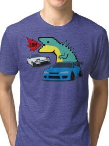 JDM dino & cars Tri-blend T-Shirt