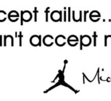 Michael Jordan   I can accept failure i cant accept not trying  Sticker