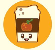 Kawaii Pumpkin Spice Latte by FleurGraphics