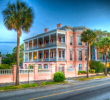 2614 - Pink House On The Battery by Ray Mosteller