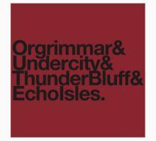 Sticker! Vanilla Capitals : Horde (Faction Spirit) - WoW goes Helvetica by merimeaux