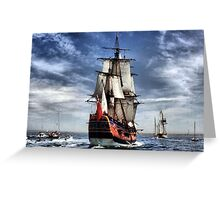 The Arrival of the Endeavour Greeting Card