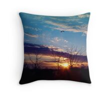 Autum Sunrise Throw Pillow