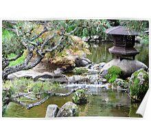 Pagoda and Pond Poster