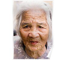Elderly Vietnamese Lady Poster