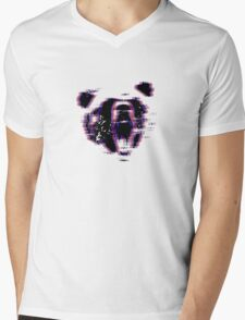 3D Bear Mens V-Neck T-Shirt