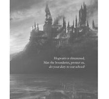 Battle of Hogwarts by Isabelle Tan