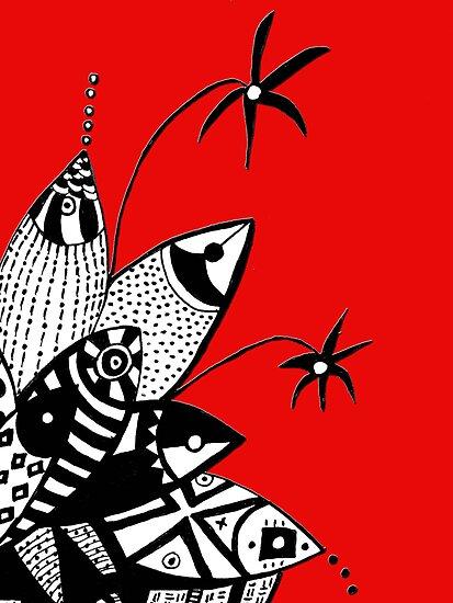Happy Fish  by Mariana M Martin
