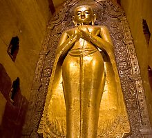 Giant Golden Buddha by Kerry Dunstone