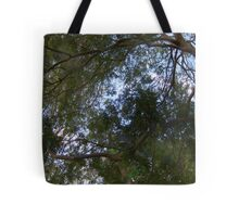 Curvilinear Branches and Lush Foliage With Fauvist Touches of Green, Purple, Blue and Orange  Tote Bag