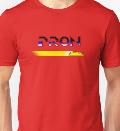 Porn/Tron in Yellow Unisex T-Shirt