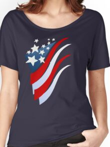 Stripes N Stars Women's Relaxed Fit T-Shirt