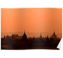 Bagan Sunset Poster
