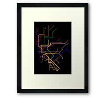 NYC Subway Lines Framed Print