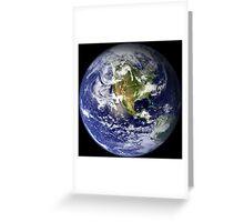 EARTH - USA/CANADA/CENTRAL AMERICA WESTERN HEMISPHERE Greeting Card