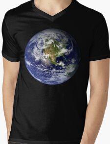 EARTH - USA/CANADA/CENTRAL AMERICA WESTERN HEMISPHERE Mens V-Neck T-Shirt
