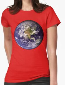 EARTH - USA/CANADA/CENTRAL AMERICA WESTERN HEMISPHERE Womens Fitted T-Shirt