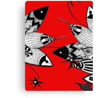 Fish Figfhting Canvas Print