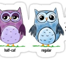 Coffee Owls Sticker