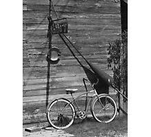 Bicycle in Fishtown, Leland MI Photographic Print