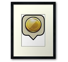 Clash Of Clans Gold Coin Motif Framed Print
