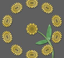 Yellow floral pattern by Dipali S