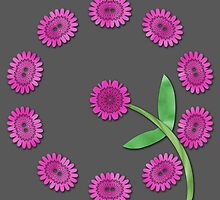 Pink floral pattern by Dipali S