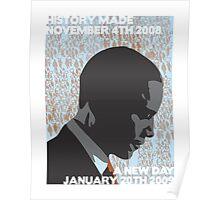 Barack Obama 'A New Day' - Unique Art Print Poster
