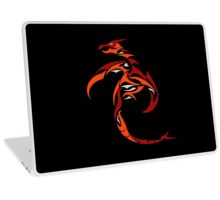 Flame Charged Dragon Laptop Skin
