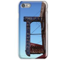 Phillips Restaurant and Cocktail Lounge Vintage Signage iPhone Case/Skin