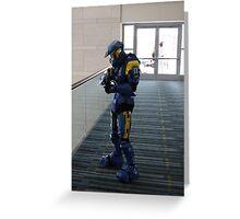 Halo Cosplayer Greeting Card