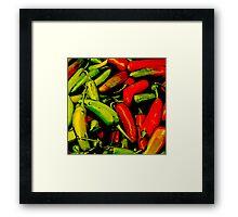 Red-Hot Green-Hot Framed Print