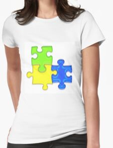 Puzzle Womens Fitted T-Shirt