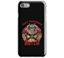 Test Your Might iPhone Case/Skin