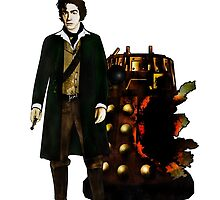 Doctor Who - The War Doctor and Exploded Dalek by Chris Singley