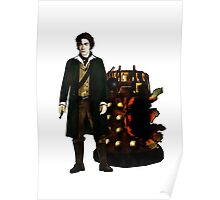 Doctor Who - The War Doctor and Exploded Dalek Poster