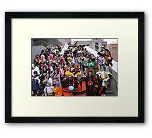 Naruto Cosplay Group Shot Framed Print