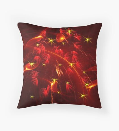 Fire Sprites Throw Pillow